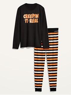 Halloween Graphic Pajama Set for Men
