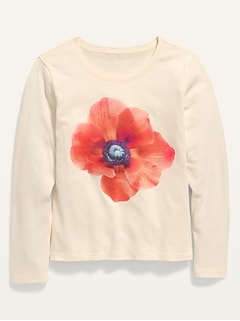 Graphic Long-Sleeve Tee for Girls