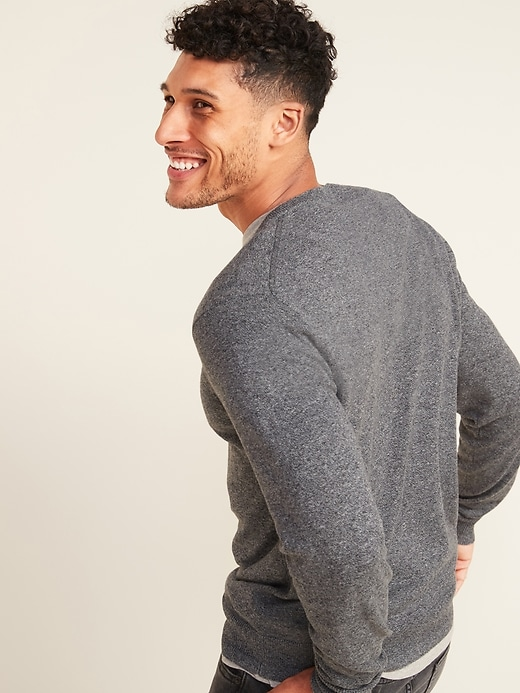 Marled V-Neck Sweater for Men