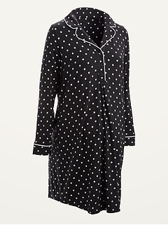 Maternity Jersey-Knit Long-Sleeve Nightgown