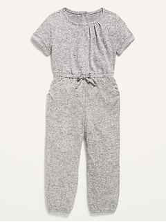 Short-Sleeve Jumpsuit for Toddler Girls