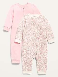 Unisex Printed One-Piece 2-Pack for Baby