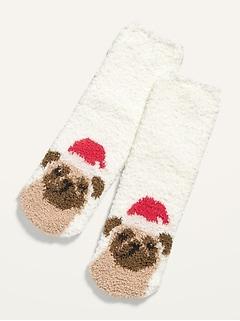 Gender-Neutral Printed Cozy Socks for Kids