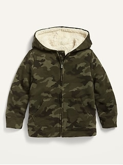 Unisex Sherpa-Lined Zip Hoodie for Toddler