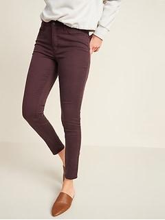 High-Waisted Rockstar Super Skinny Sateen Jeans for Women