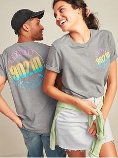 T-shirt unisexe avec imprimé sur le thème de la culture pop utilisé sous licence pour homme et femme