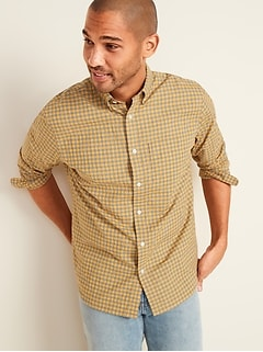 Slim-Fit Built-In Flex Plaid Everyday Shirt for Men