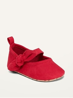Bow-Tie Ballet Flats for Baby