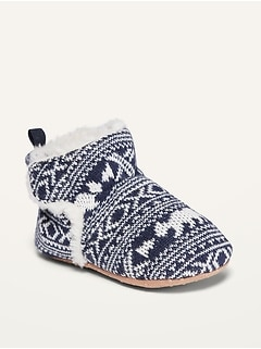 Fair Isle Booties for Baby
