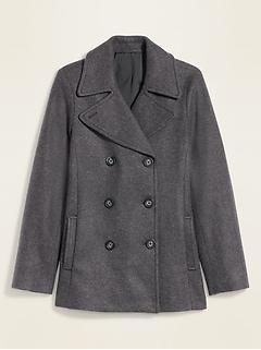 Manteau matelot au fini brossé pour femme
