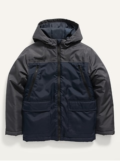 Water-Resistant Color-Blocked 3-in-1 Snow Jacket for Boys