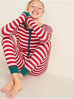 Pyjama une-pièce en tricot gaufré à motifs pour femme