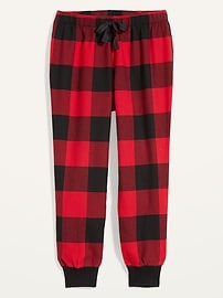 Patterned Flannel Jogger Pajama Pants for Women