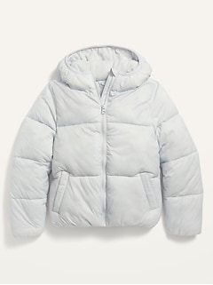 Wind-Resistant Frost-Free Puffer Jacket for Girls