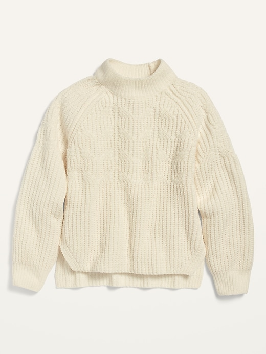 Mock-Neck Chenille Sweater for Girls