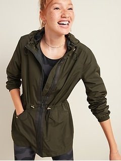 Go-H20 Water-Resistant Hooded Anorak for Women