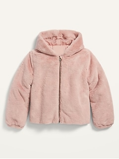 Hooded Faux-Fur Jacket for Girls