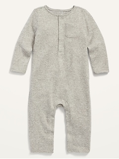 Cozy Henley One-Piece for Baby