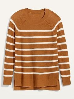 Textured Crew-Neck Sweater for Women