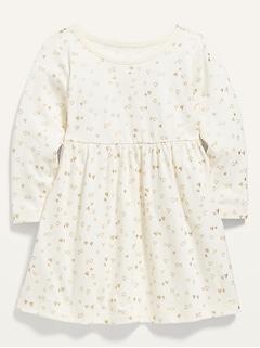 Robe en jersey à imprimé à manches longues pour bébé