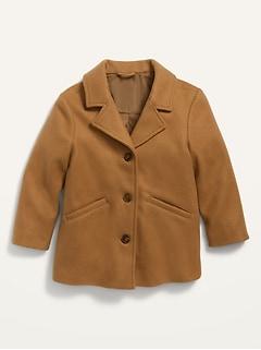 Soft-Brushed A-Line Coat for Toddler Girls