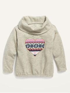 Cozy Funnel-Neck Sweatshirt for Toddler Girls