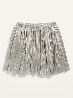 Pleated Sparkle Skirt for Toddler Girls