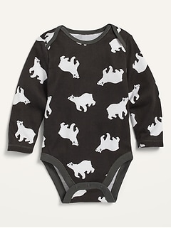Printed Long-Sleeve Bodysuit for Baby