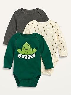 Paquet de trois cache-couches à manches longues pour bébé
