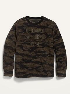 Micro Fleece Logo-Graphic Pullover Sweatshirt for Boys