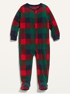 Micro Fleece Footie Pajama One-Piece for Toddler & Baby