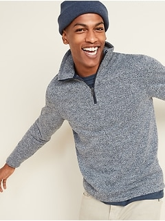 Sweater-Fleece Mock-Neck 1/4-Zip Sweatshirt