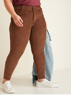 High-Waisted Secret-Slim Pockets Rockstar Super Skinny Plus-Size Corduroy Pants