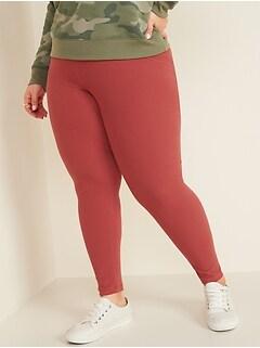 High-Waisted Rib-Knit Plus-Size Leggings