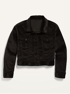 Cropped Velvet Jacket for Girls