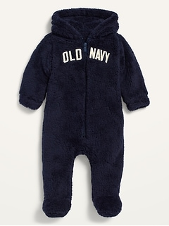 Unisex Logo-Graphic Sherpa One-Piece for Baby