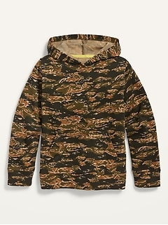 Garment-Washed Gender-Neutral Pullover Hoodie for Kids