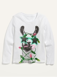 Long-Sleeve Graphic Tee for Girls