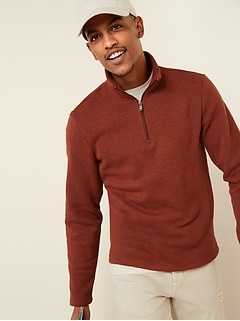Sweater-Fleece Mock-Neck 1/4-Zip Sweatshirt for Men
