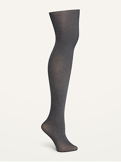 Control-Top Gray Tights for Women