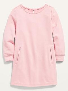 Robe en tissu éponge à poche pour toute-petite fille