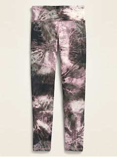 Mid-Rise Elevate Go-Dry Tie-Dye Leggings for Girls