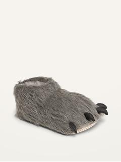 Gender-Neutral Faux-Fur Critter Slippers for Kids