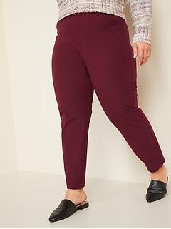 High-Waisted Secret-Slim Pockets Pixie Plus-Size Ankle Pants