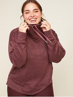 Haut tunique en tricot de jersey, taille forte
