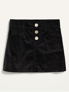 Velvet Snap-Fly Skirt for Toddler Girls