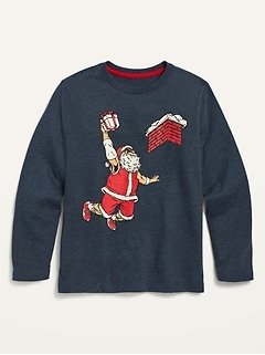 Long-Sleeve Holiday-Graphic Tee for Boys