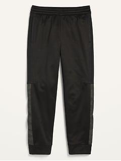 Pantalon d'entraînement fuselé en molleton Go-Dry techno pour garçon