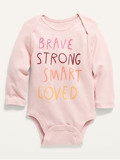 Unisex Graphic Long-Sleeve Bodysuit for Baby