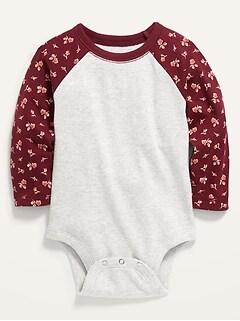 Cache-couche à manches raglan à couleurs contrastantes pour bébé